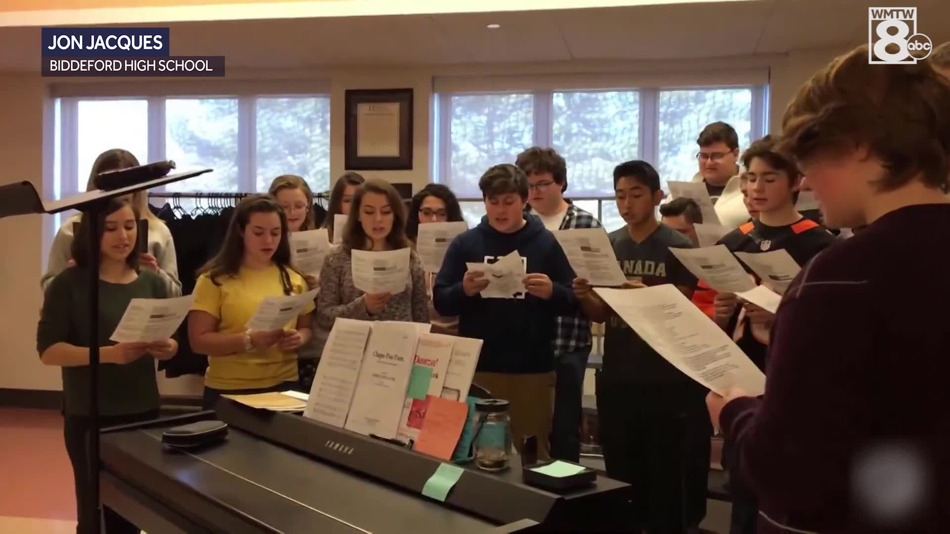 Biddeford High School Students Celebrate Pi Day With Song