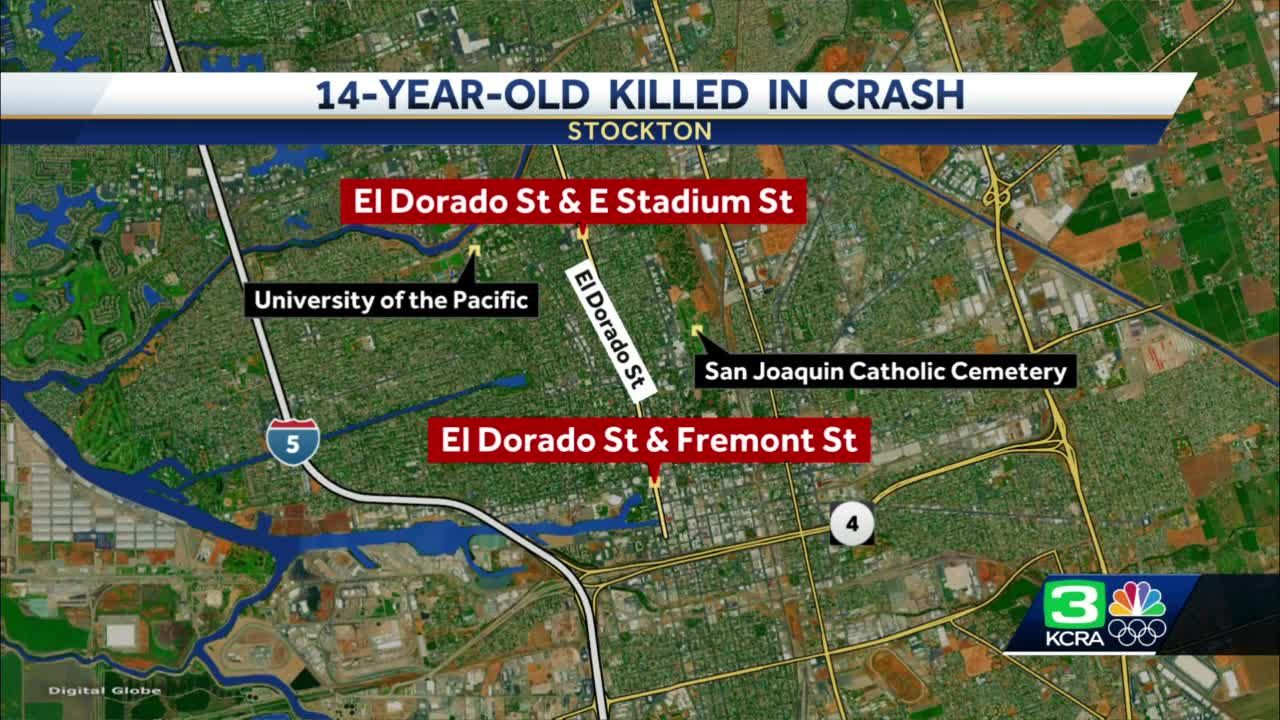 14-year-old driver dies after crash in stolen vehicle, Stockton police say