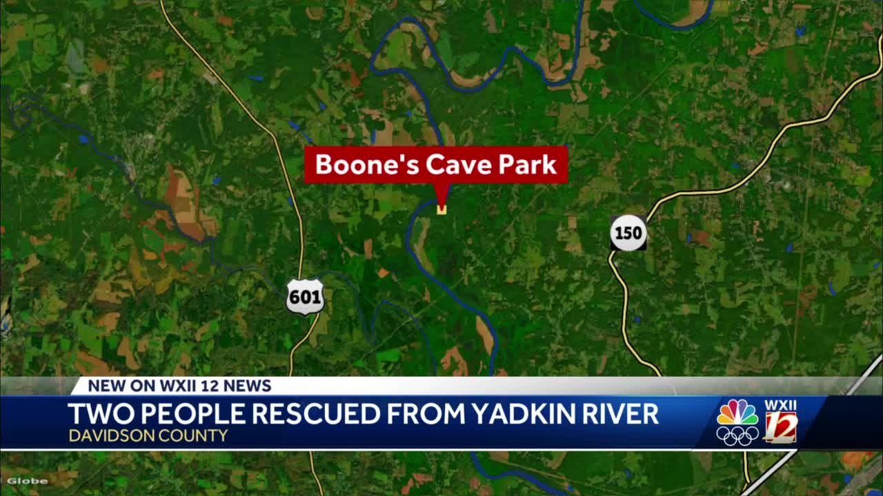 Davie County Water Rescue Units respond to Yadkin River