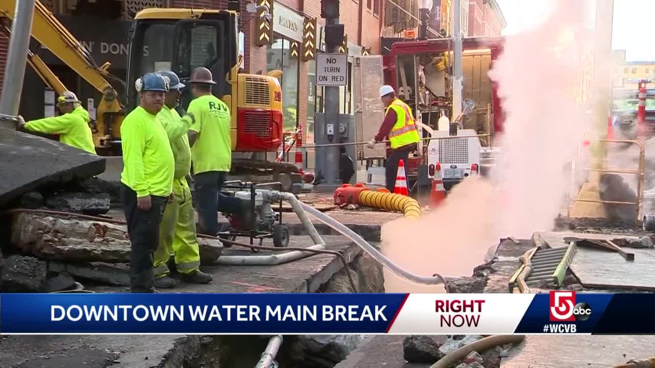 Water main from 1800s ruptures in Boston
