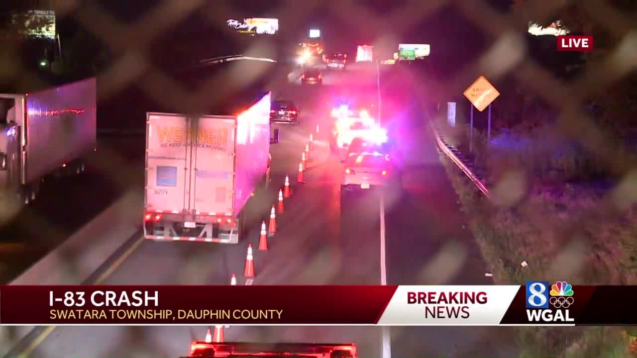 I-83 crash in Dauphin Co causes lane restriction