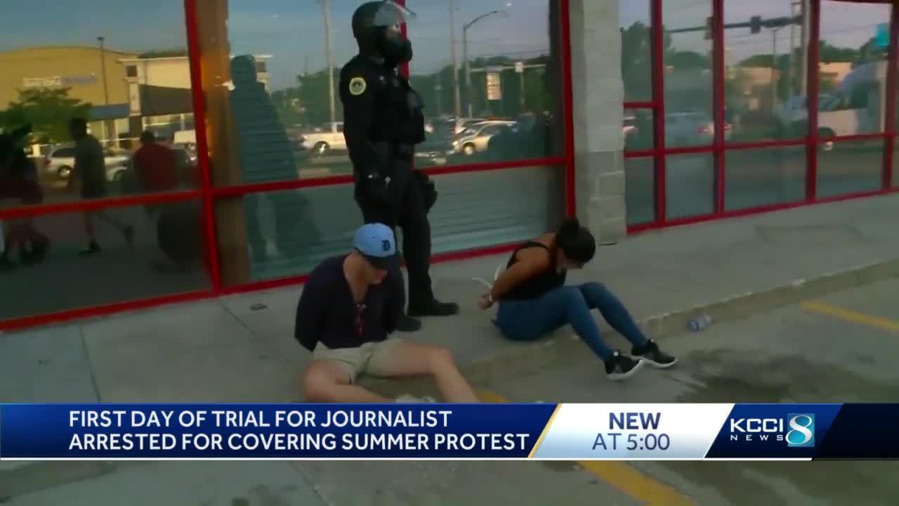 Trial begins for Des Moines Register reporter arrested while covering protest