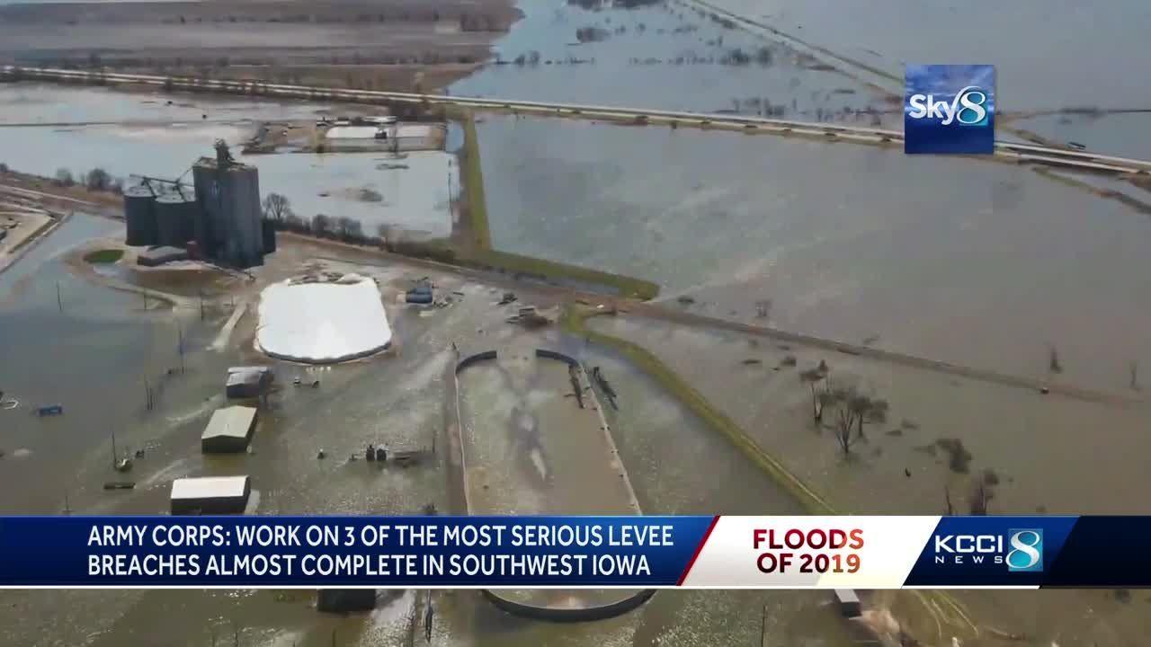 Corps closes 3 serious Missouri River levee breaches in Iowa