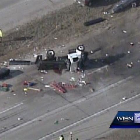 Crash closes Hwy 41/45 at Holy Hill Rd