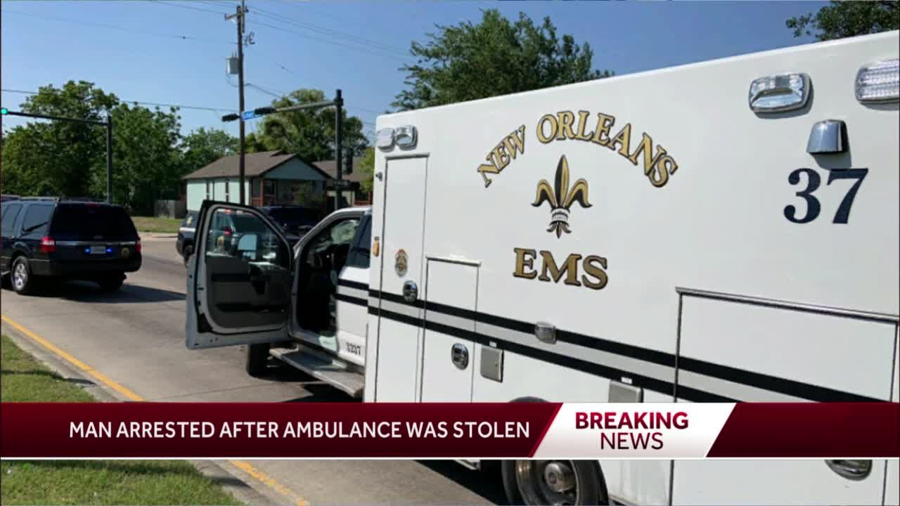 1 in custody after being accused of stealing ambulance, crashing into NOPD unit
