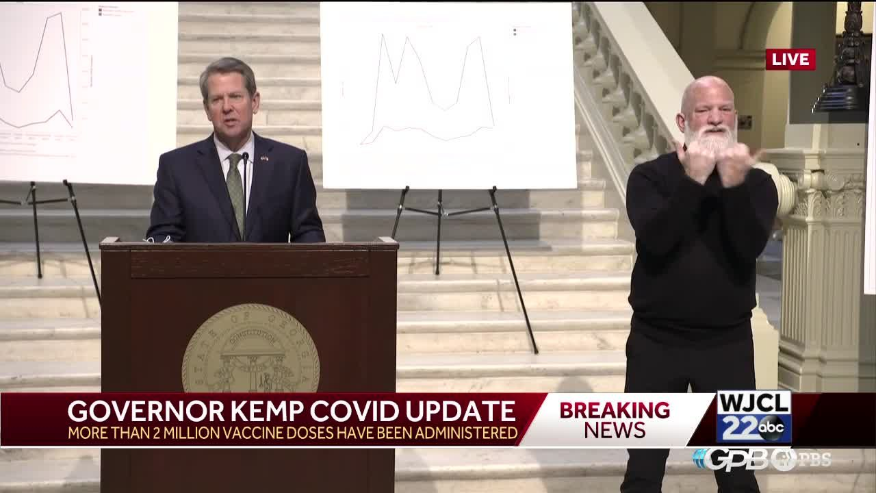 Kemp announces mass vaccination site at Gulfstream