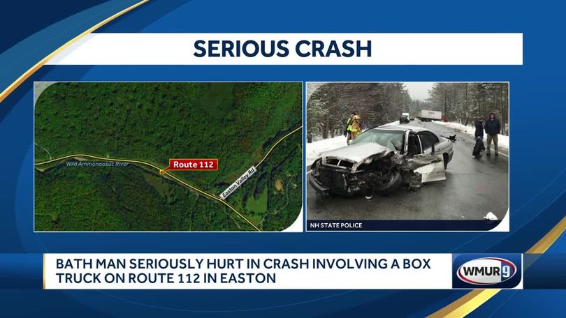 Man seriously hurt in crash in Easton