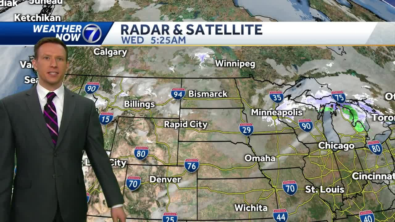 Clouds, gusty winds early Wednesday, cooler today