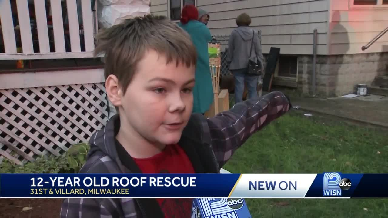 Fire crews rescue 12-year-old boy from roof