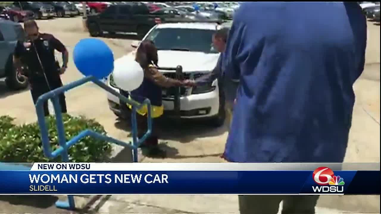 Slidell woman who walked 6 miles to work receives new car