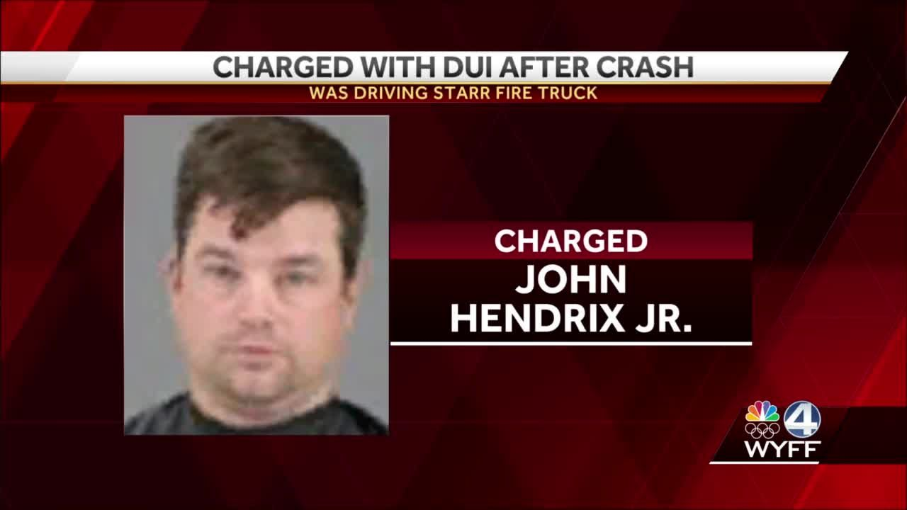 Man charged with DUI after crashing a fire truck in Anderson County, troopers say