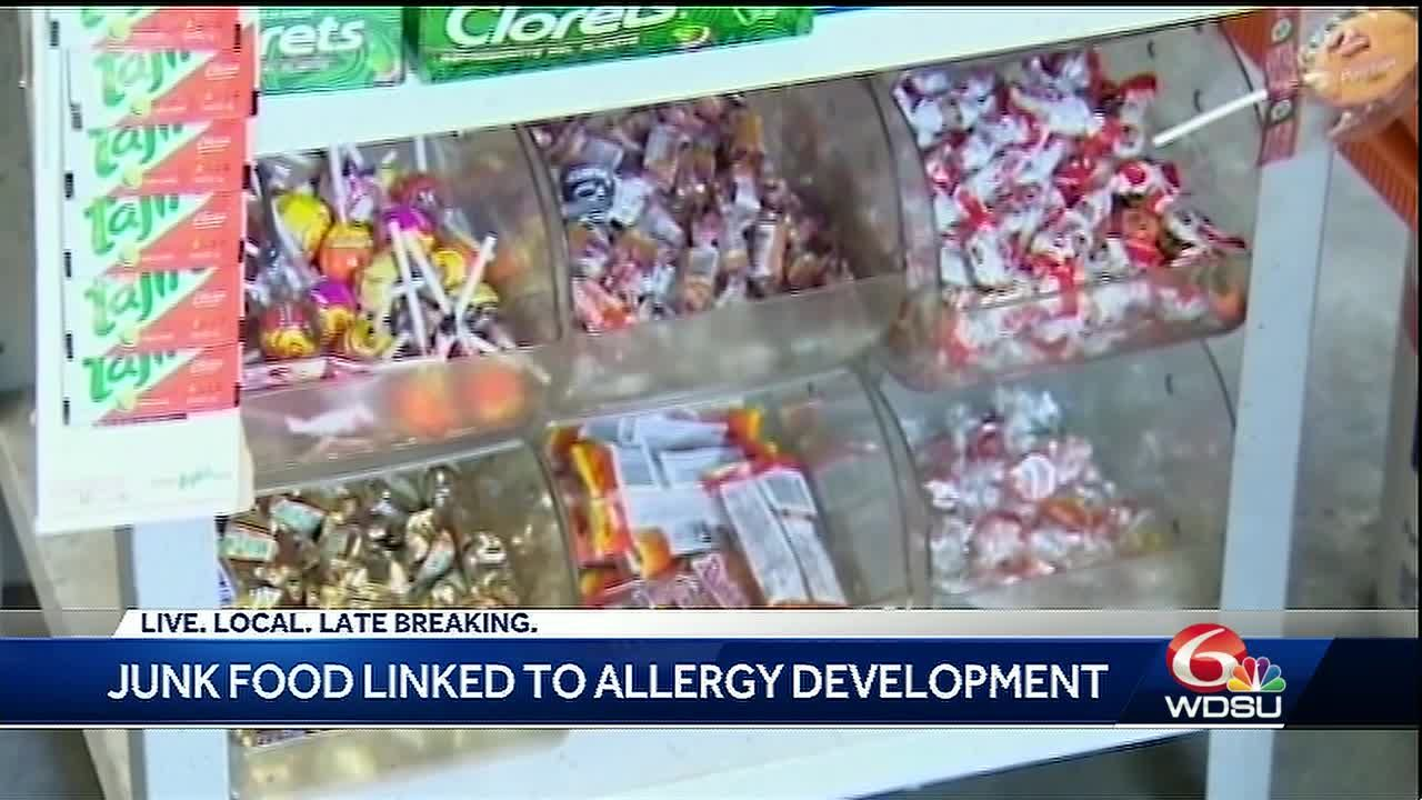 Junk food linked to allergy development