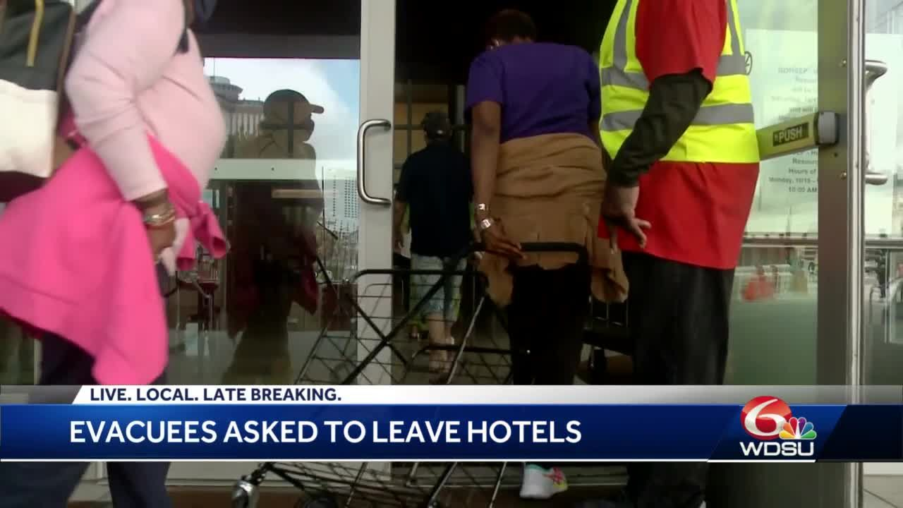 Evacuees asked to leave Monday
