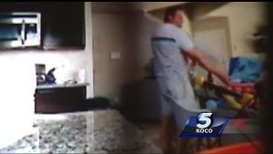 Disturbing video: Tulsa dentist caught on camera moments after prosecutors  say he killed baby