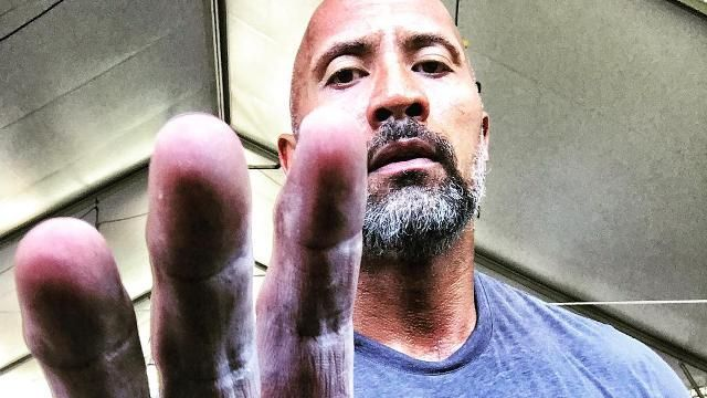 """Dwayne """"The Rock"""" Johnson Expertly Demonstrates How to Pull Off a Gray Beard"""