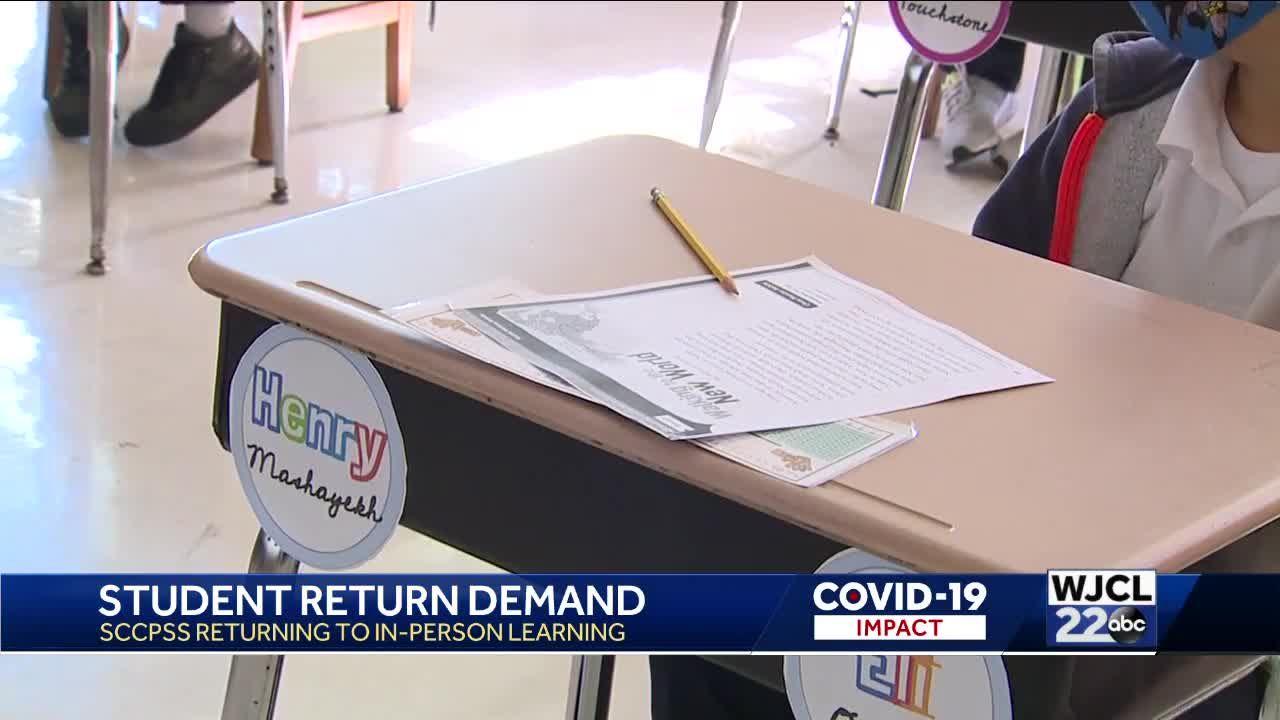 SCCPSS students return parents version
