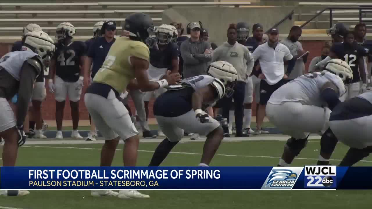Georgia Southern hosts first football scrimmage of spring