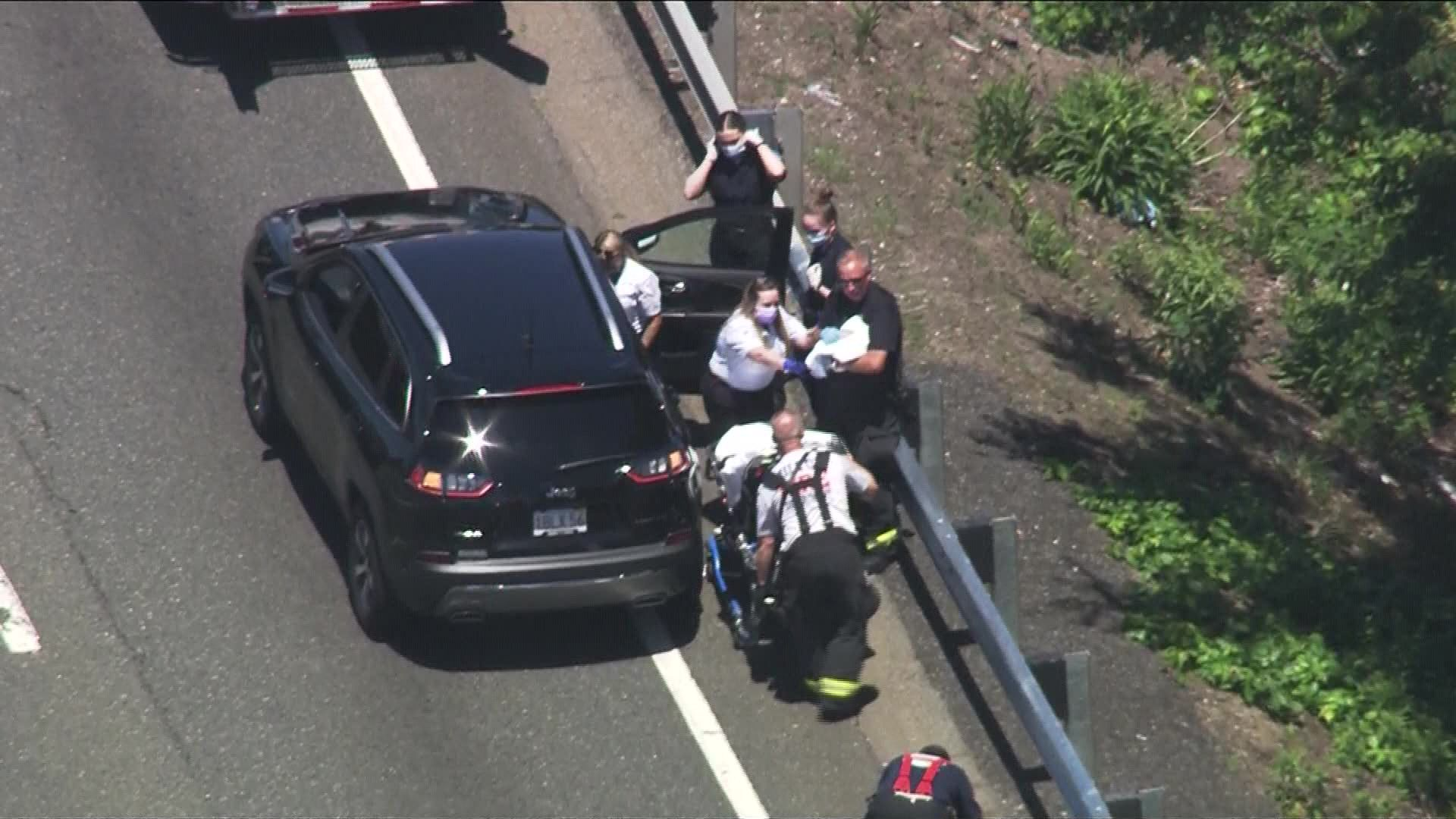 Early delivery! Dad delivers baby in SUV after getting stuck in Boston highway traffic
