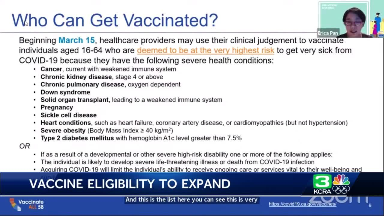 CA health officials explain expansion of COVID-19 vaccine eligibility