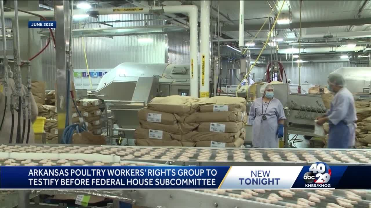 Arkansas poultry workers' rights group to testify before federal House Subcommittee Wednesday
