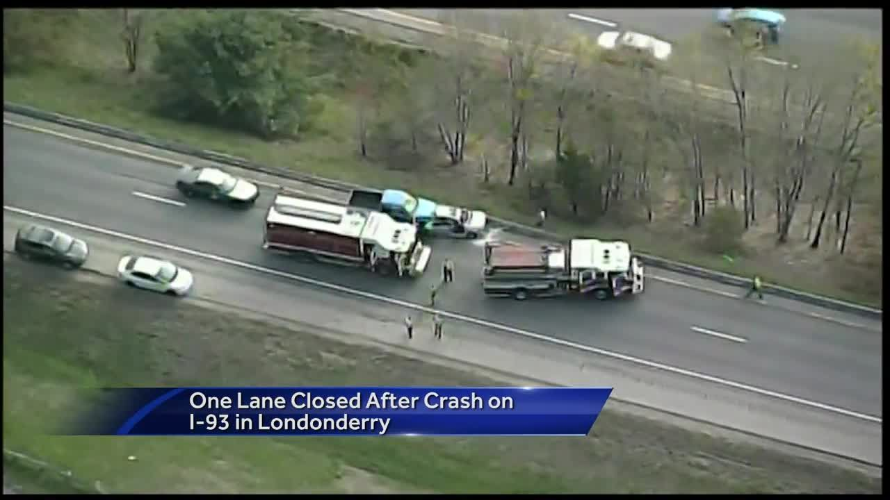 Serious crash snarls traffic on I-93 South in NH