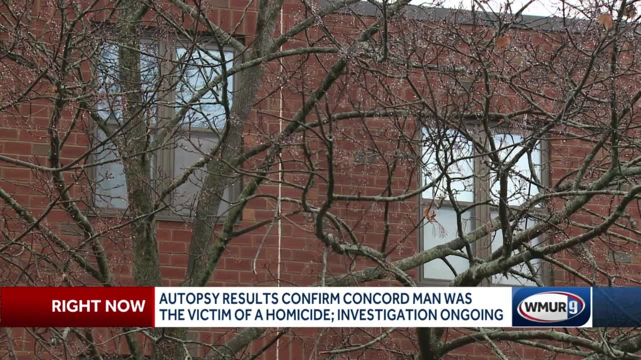 Autopsy results confirm Concord man was victim of homicide; investigation ongoing