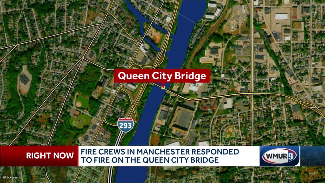 Propane heater sparks fire on Queen City Bridge