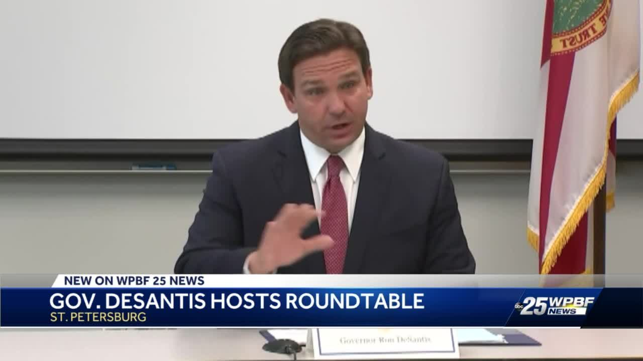 Gov. Ron DeSantis discusses Red Tide Task Force at Fish and Wildlife Research Institute