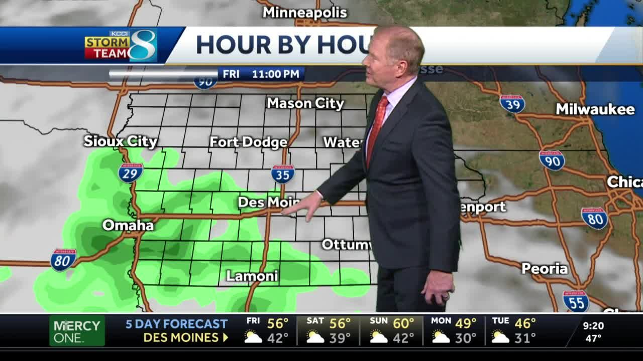 Late rains possible Friday night