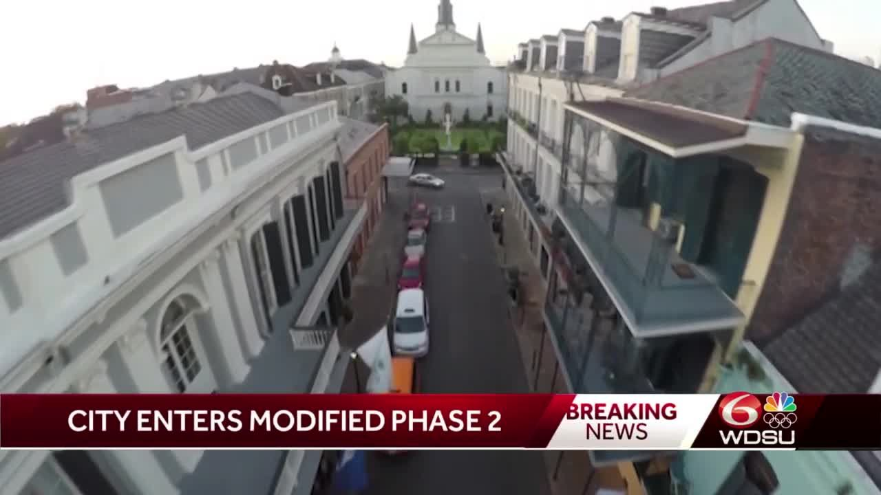 New Orleans moves to modified phase 2, bars closed to indoor service through Mardi Gras