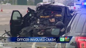 CHP officer hit by FedEx truck on Hwy  50 in Sacramento