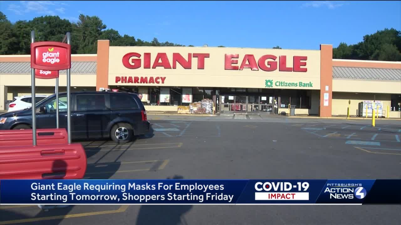 Giant Eagle requiring masks for employees, recommending masks for customers