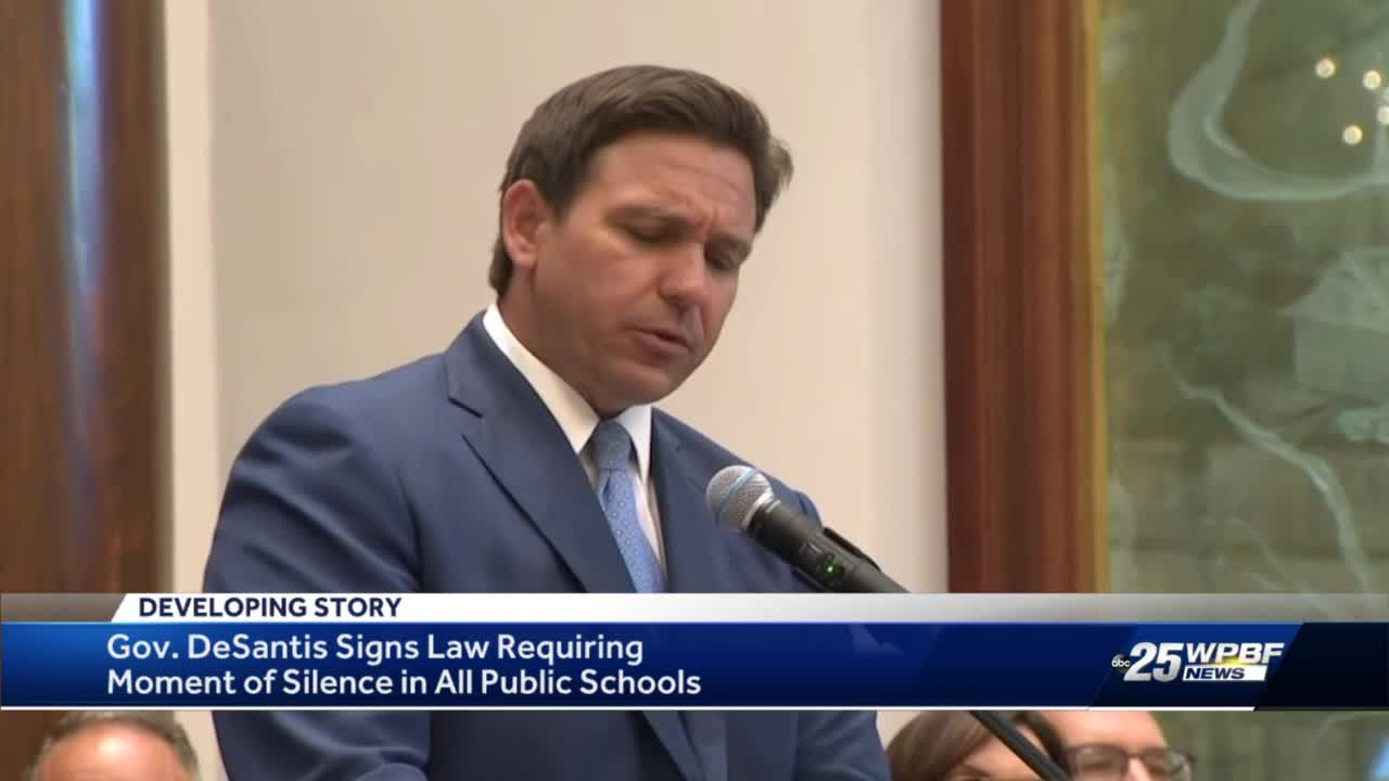 Florida schools to require 'moment of silence' every day