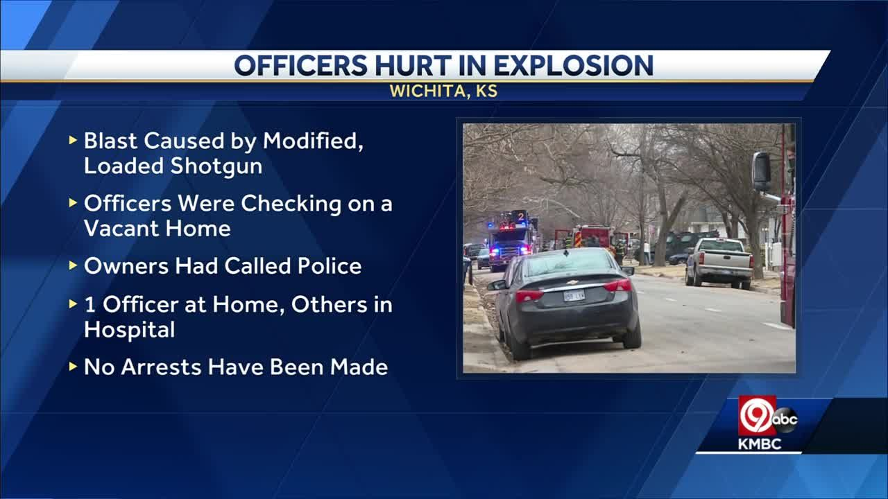 Wichita Police give update on injured officers, cause of 'explosion'