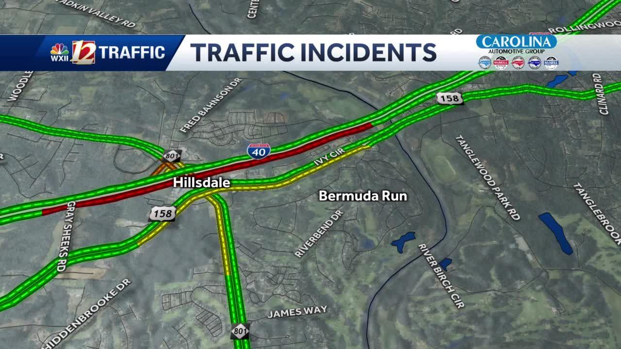 Davie County crash on I-40 causing major delays Monday morning