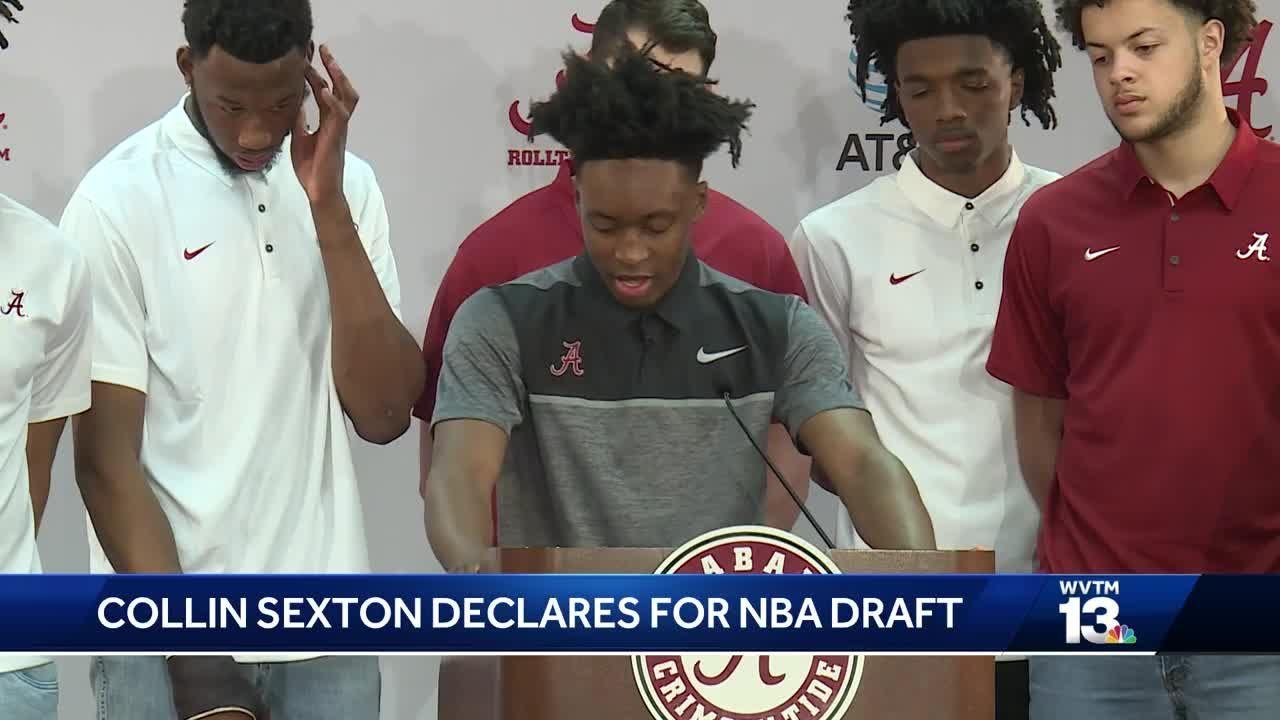 9f141f8cb41 Alabama s Collin Sexton declares for the 2018 NBA draft