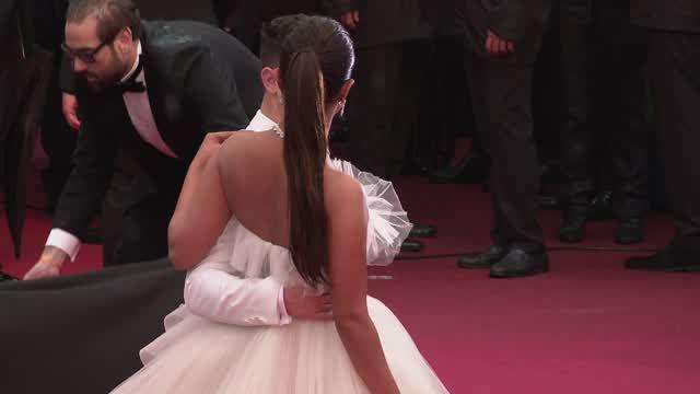 Priyanka Chopra wore an actual wedding dress on the Cannes red carpet