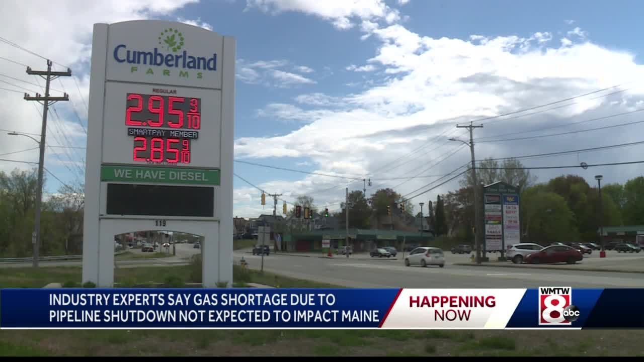 Gas shortage due to pipeline shutdown not expected to impact Maine