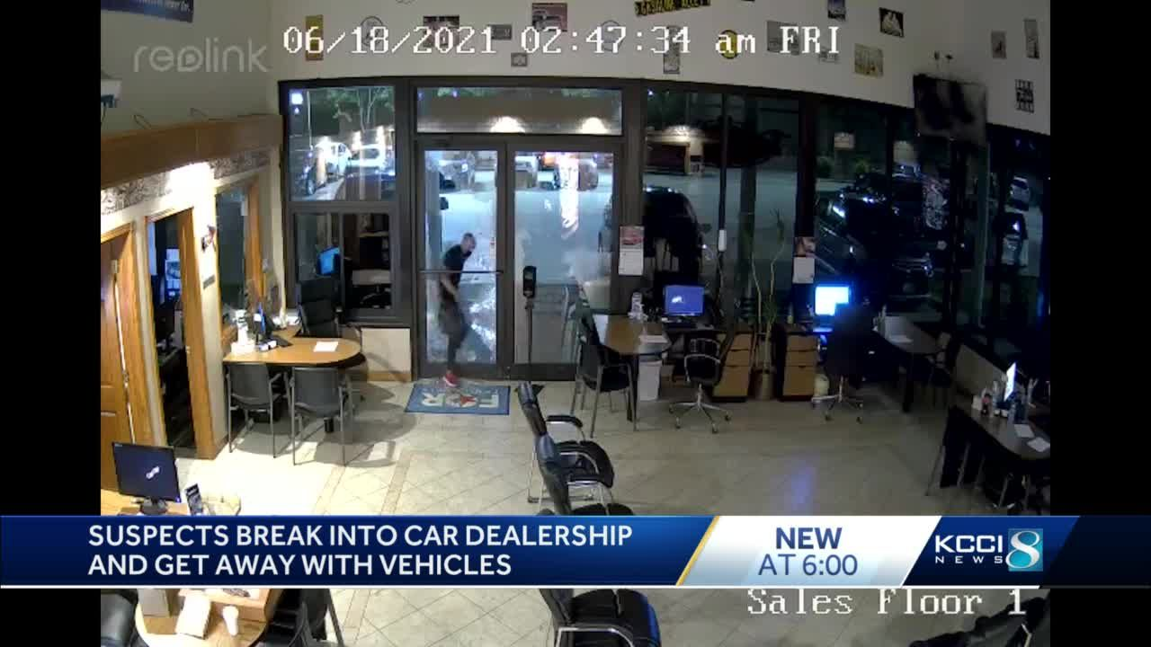 WATCH: Dealership shares video of thieves breaking into shop