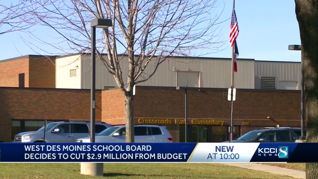 West Des Moines Community Schools to cut $2.9 million from budget