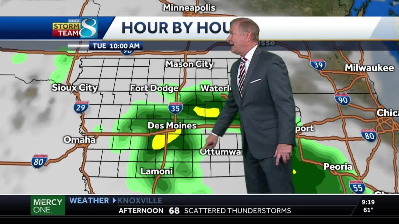 Cloudy skies, showers continue Tuesday