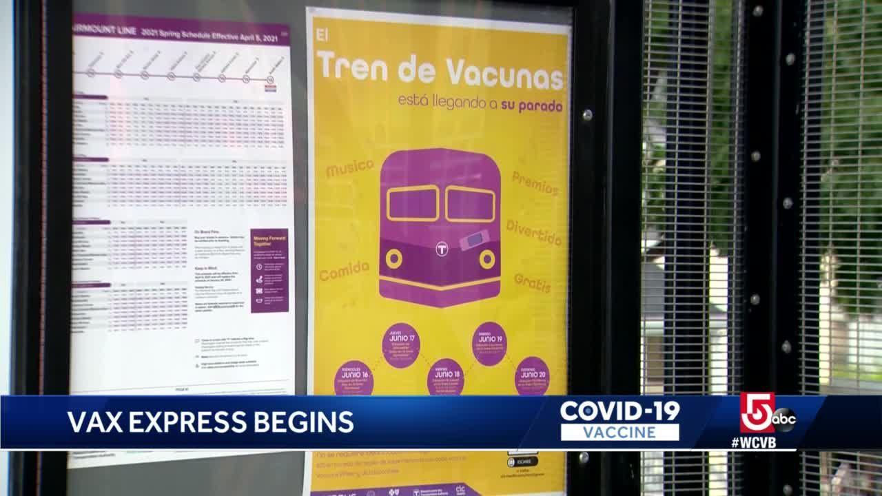 'Vax Express' hits rails