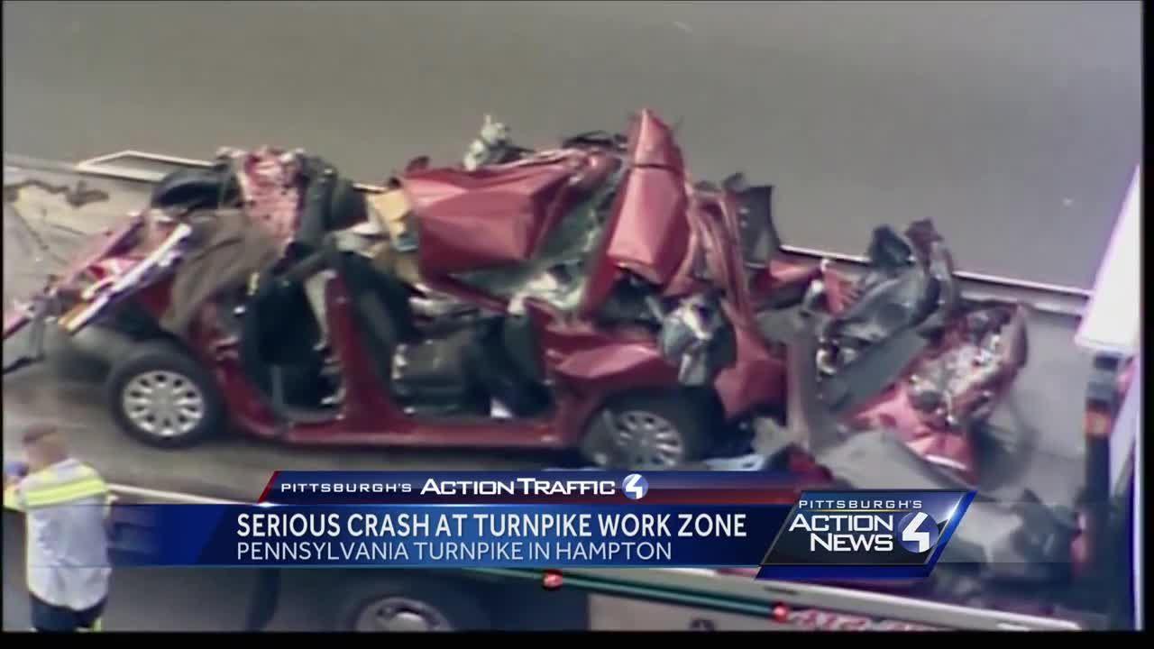 Serious crash at Turnpike work zone in Hampton
