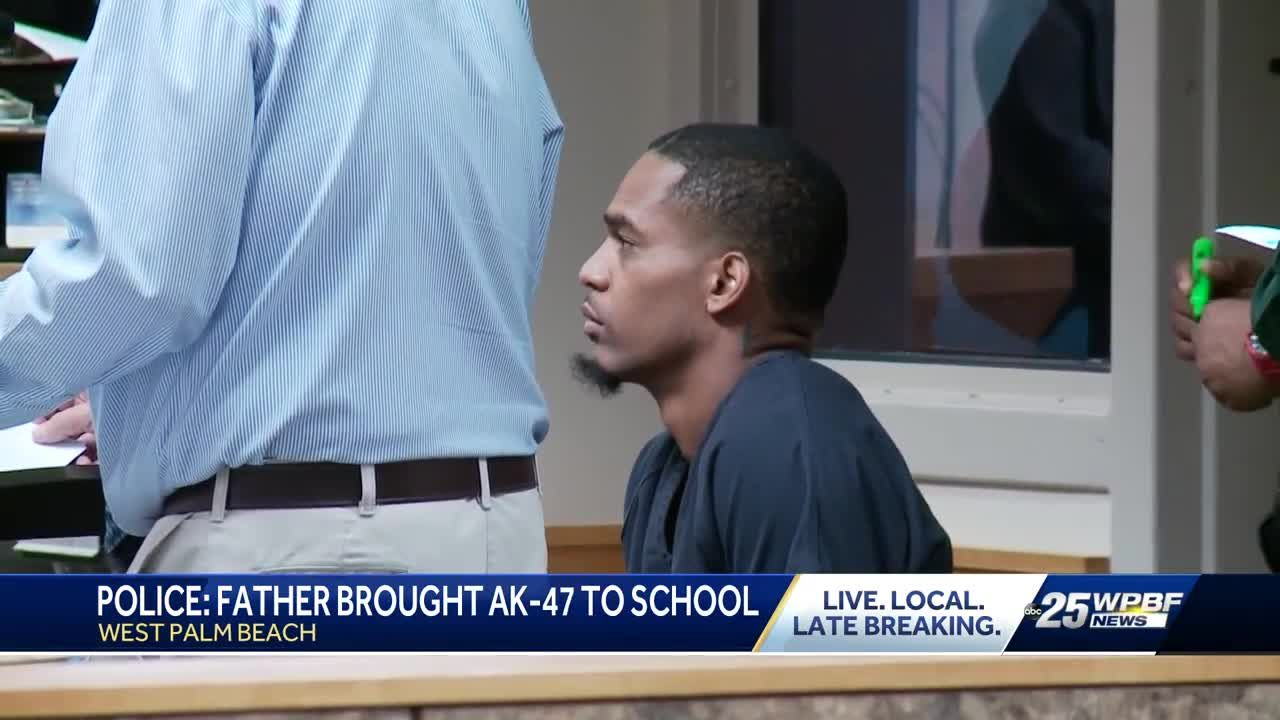 02894bc6 A man brought an AK-47 to his son's middle school in West Palm Beach on  Monday.