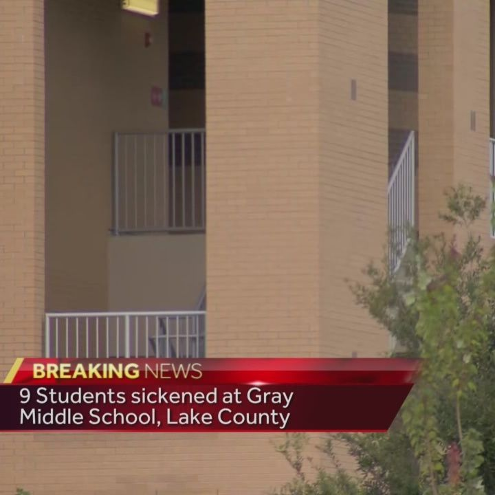 9 students sickened at Gray Middle School, Lake County