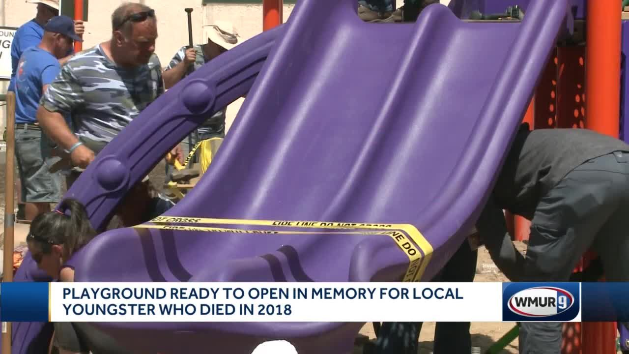 Playground built in memory of Manchester boy who died in 2018