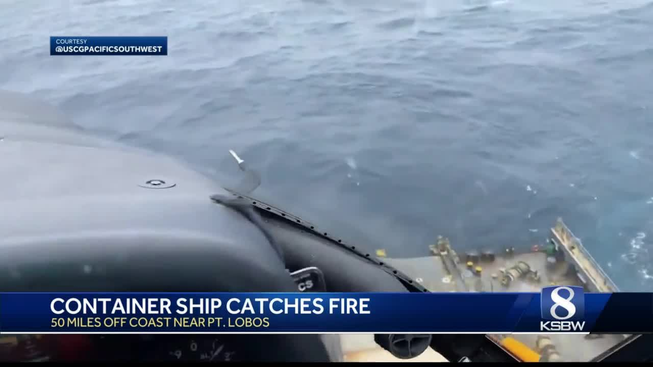 Container ship off the coast of Point Lobos suffers engine fire