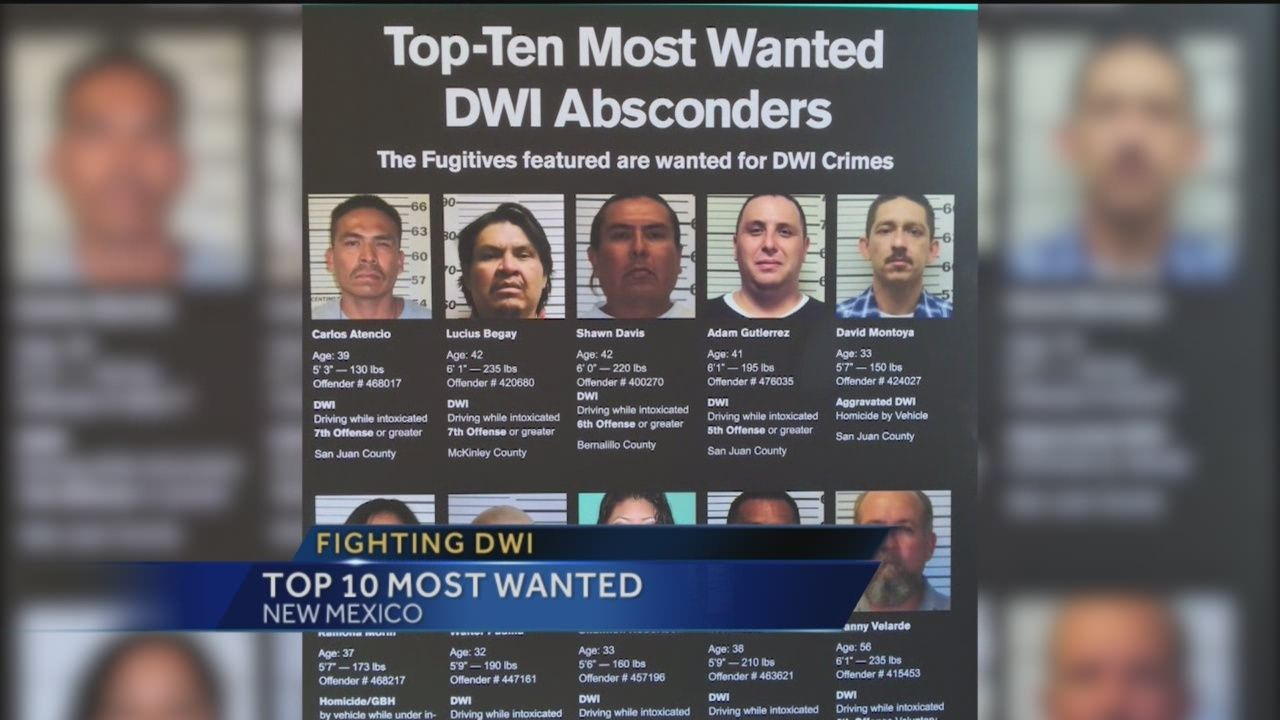 Top 10 Most Wanted DWI Absconders