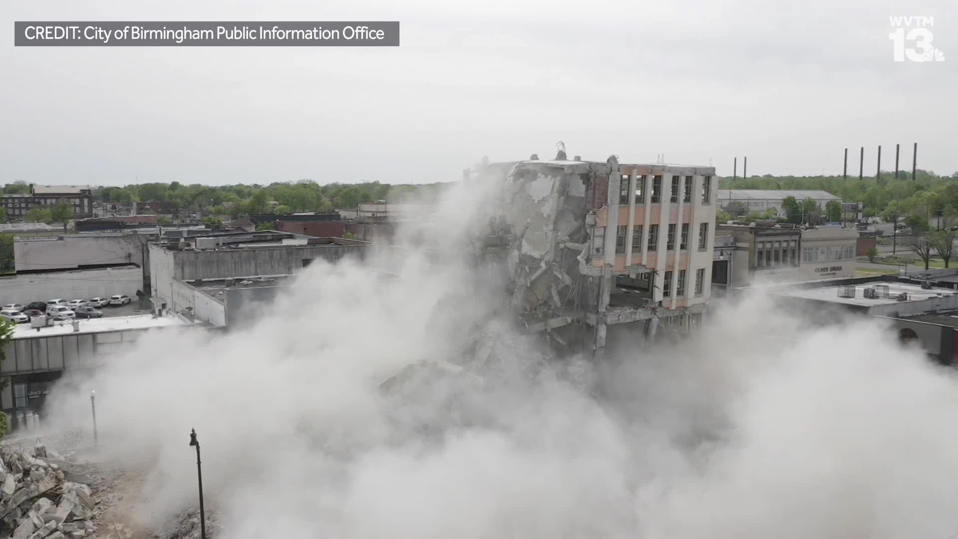 Demolition of the Ramsay McCormack Building in Ensley
