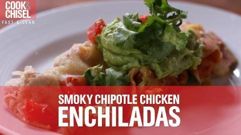 Batch Meal #2: Smoky Chipotle Chicken Enchiladas with Corn Salsa and Avocado Cream